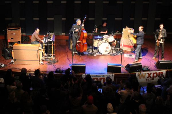<p>The World Cafe Live theater in Philadelphia was packed for the performance.</p><p></p>
