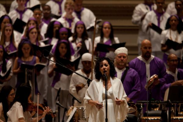 "Brazilian singer Luciana Souza sings ""Lua descolorida"" (Aria of Peter's Tears), one of the <em>Passion</em>'s most heartbreaking songs."