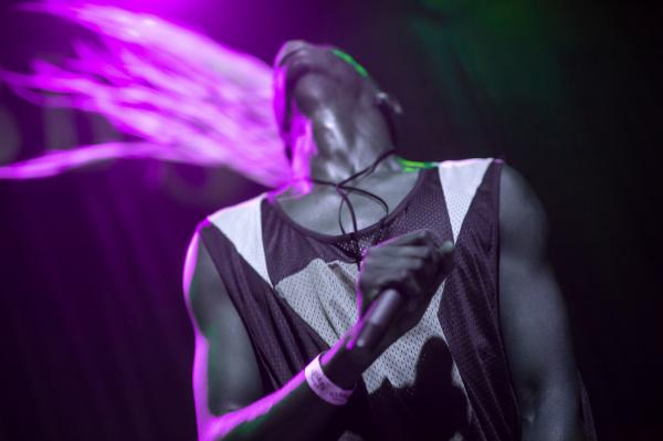 With his braids flying through the UV light, Le1f was the perfect follow to Karen O's performance on the Stubb's mainstage.