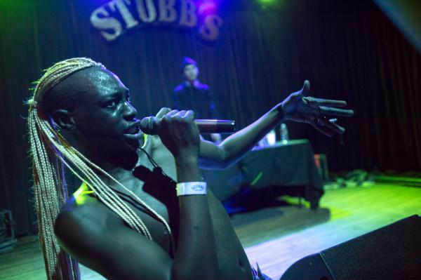 "New York rapper Le1f (pronounced ""Leaf"") performed on the indoor stage at NPR Music's SXSW showcase at Stubb's in Austin."