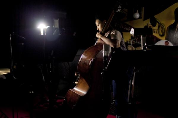 <p>Esperanza Spalding at soundcheck.</p><p></p>