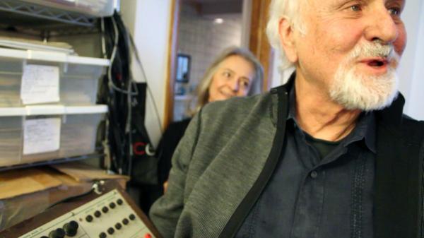 Morton Subotnick in his studio.