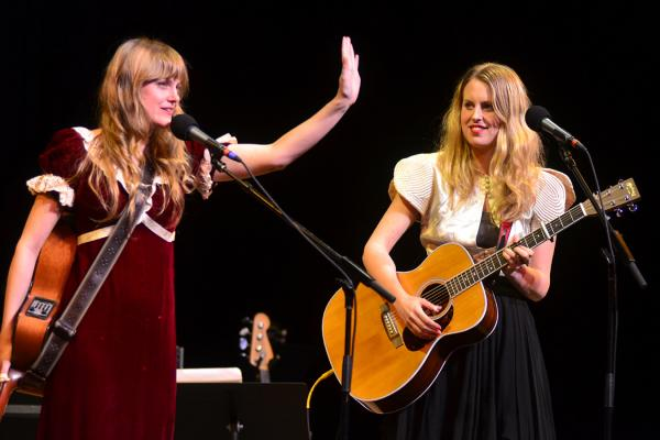 The Chapin Sisters' Abigail and Lily Chapin perform live on <em>Mountain Stage</em>.