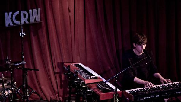 James Blake performed live for KCRW at Apogee's Berkeley Street Studio in Santa Monica.