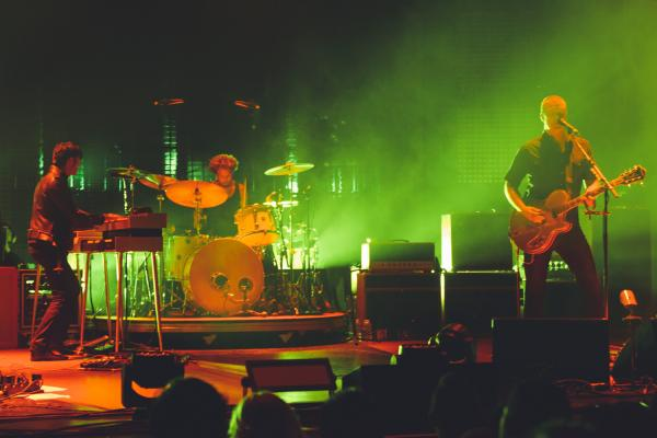 Queens Of The Stone Age in performance at a sold-out show at The Wiltern in Los Angeles on May 23.