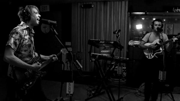 Franz Ferdinand's Alex Kapranos and Nick McCarthy during their performance on KCRW.