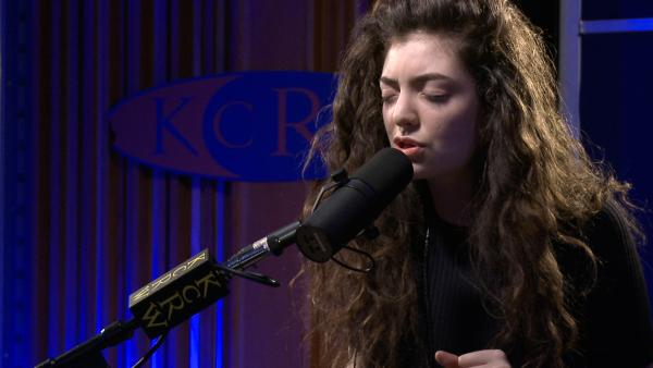 "Lorde performs ""Royals"" on KCRW's Morning Becomes Eclectic."