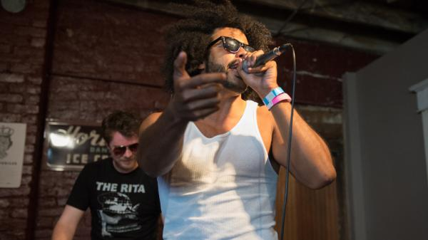 New Sub Pop signee clipping. performs at the label's 25th-anniversary festival.