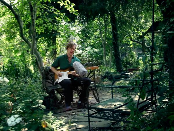 Bill Callahan in the 6th and B Community Garden.