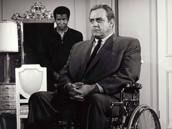 The original <em>Ironside</em> starred Raymond Burr as a detective who became a paraplegic after being shot in the line of duty.