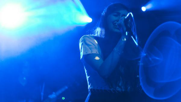 Cults performed live Wednesday at NPR Music's showcase at (Le) Poisson Rouge in New York.