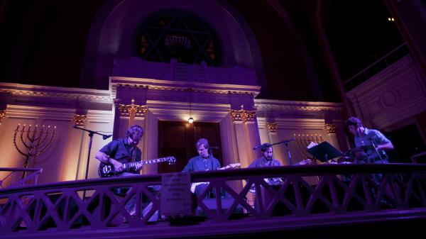 Bill Callahan, performing live at the Sixth And I Synagogue in Washington, D.C.