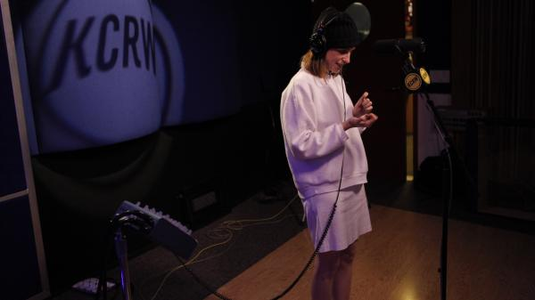 Glasser performs lives on KCRW.