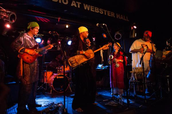 Hakmoun's band blends traditional Gnawa music — itself a hybrid of North and sub-Saharan styles — as well as artful shadings of jazz and rock.