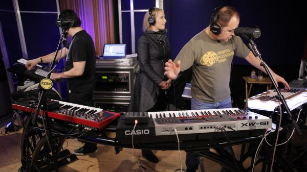 The Crystal Method performed live on KCRW's <em>Morning Becomes Eclectic</em>.