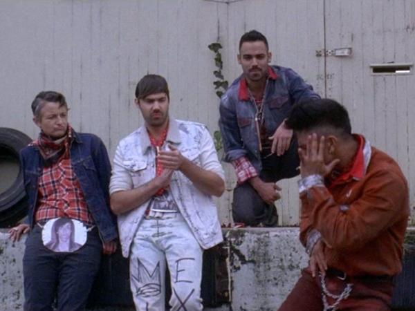 "A scene from the Sebastien Grainger video for the song ""The Streets Are Still A Mess."""
