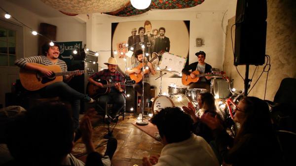 Los Romanticos de Zacatecas, performing for a video shoot in Mexico City.