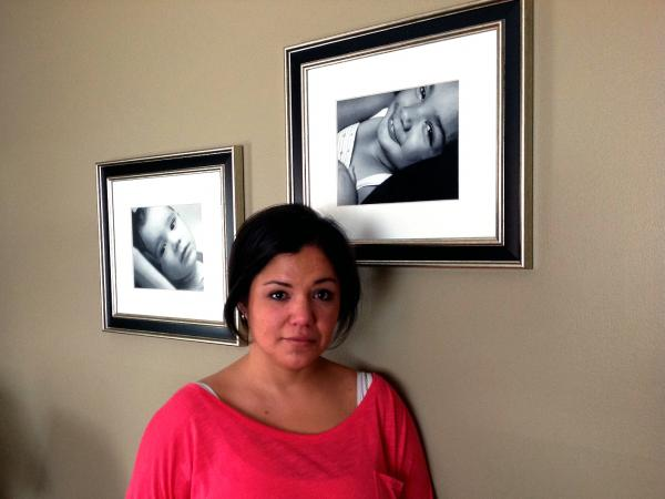 Floribeth Roman keeps dozens of photographs of her children throughout her home, including these pictures of her daughter Bella, who died in 2012 at age 6.