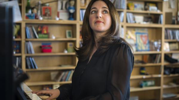Simone Dinnerstein performs a Tiny Desk Concert in April 2014.