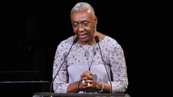 Bethann Hardison speaks onstage at the 2014 CFDA fashion awards at Alice Tully Hall, Lincoln Center on Monday in New York City.