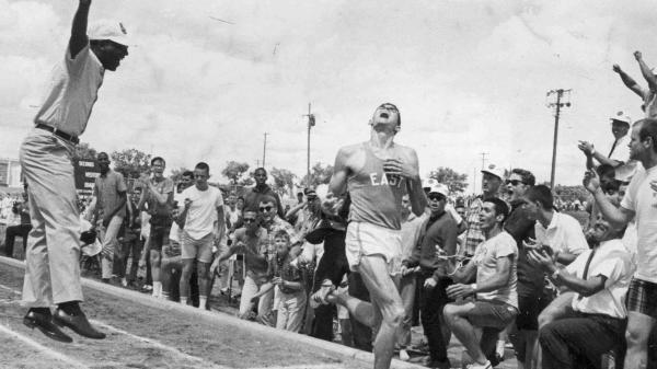 Jim Ryun becomes the first high-schooler to break the four-minute-mile record, with a run of 3:59 in 1964. He went on to break the record three more times while in high school.