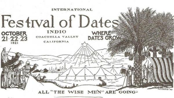 The marketing of dates grown in the Coachella Valley was based on Middle Eastern themes as America swooned over the idea of Aladdin and Ali Baba.