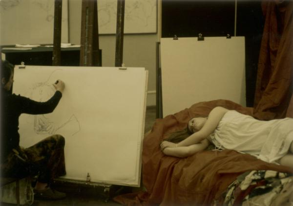 "The relationship between artists and their models is explored in <a href=""http://www.aaa.si.edu/exhibitions/artists-and-their-models"">an exhibit</a> at the Smithsonian's Archives of American Art. Above, Eleanor Dickinson sketches model Cory Weldon."