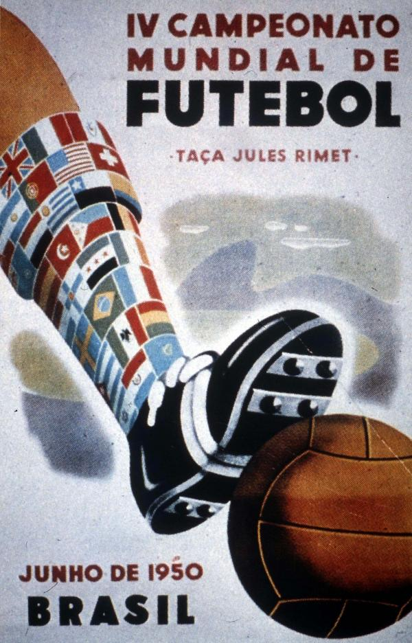 The Soccer World Cup logo, Brazil, 1950.