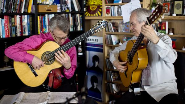 Paco Pena performs at the Tiny Desk in April 2014.