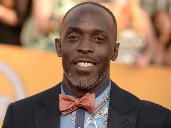 Michael K. Williams arrives at the 20th annual Screen Actors Guild Awards at the Shrine Auditorium in Los Angeles.