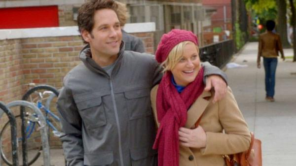 Paul Rudd and Amy Poehler play a couple, sort of, in the underwhelming rom-com parody <em>They Came Together</em>.