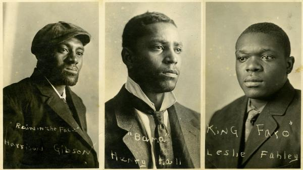 Harrison Gibson, Henry Hall and Leslie Fahley were sentenced to hang in a public execution in White Sulphur Springs, Mont., in 1917. The wallet-sized photos of the men were included in an invitation to the hanging received by Carol Zachary's grandfather.
