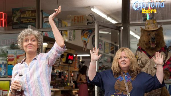 Melissa McCarthy co-wrote, produced and stars as the title character in <em>Tammy --</em> a comedy about a woman on a felonious road trip with her alcoholic grandmother, played by Susan Sarandon (left).