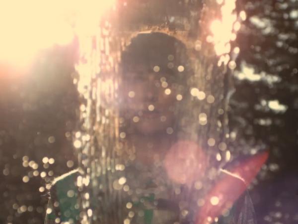 "Musician Christina Vantzou, in a scene from her new video for the song ""Strange Symptoms."""
