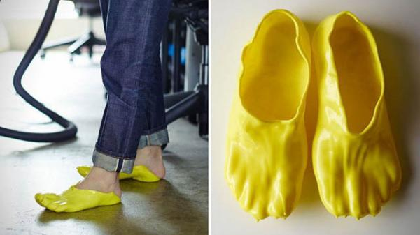 The do-it-yourself Fondue Slipper is a liquid cheese-inspired shoe, made from a mold of your foot.