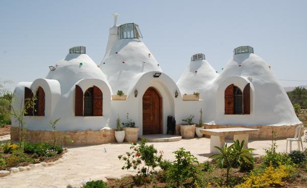 ShamsArd, a Palestinian architecture firm, uses packed earth to construct its environmentally friendly homes.