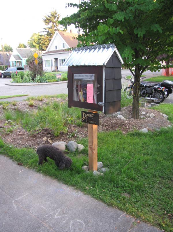 Little Free Library in Georgetown, Seattle. (litlnemo/Flickr)