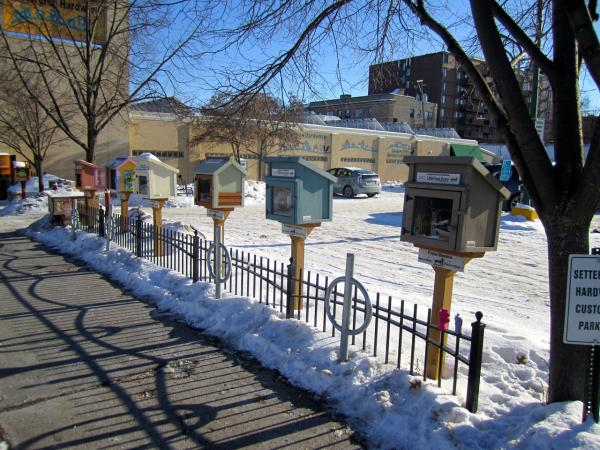 Little Free Libraries on January 5, 2014. (david silver/Flickr)