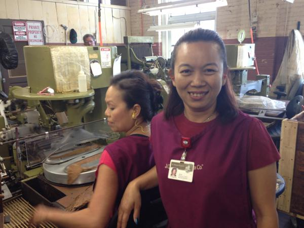 Tuptim Ploysawon has worked at J.C. Newman Cigar Factory for almost five years.