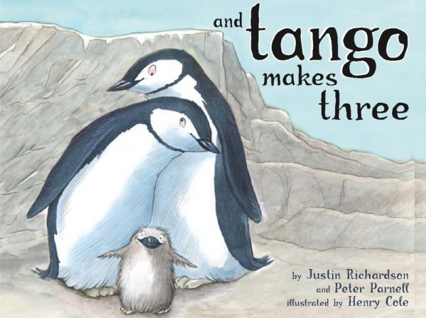 <em>And Tango Makes Three</em>, co-written by Justin Richardson and Peter Parnell, illustrated by Henry Cole.