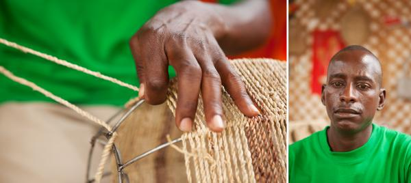 Apollo Omondi Omware couldn't find a white-collar job, so he created his own business, weaving baskets and training others to weave as well.