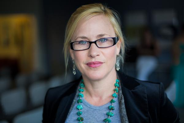 """Patricia Arquette stars in the new film """"Boyhood."""" She's pictured here at the Here & Now studios on July 10, 2014. (Jesse Costa/Here & Now)"""