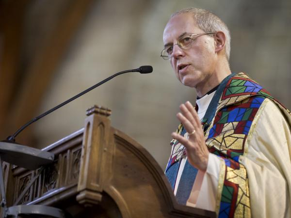 Archbishop of Canterbury Justin Welby, shown here in Kenya last October, supported the decision to ordain women as bishops.