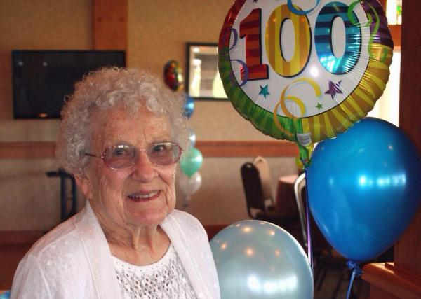 Betty Esser is 100 years old. (Diane Marlin)