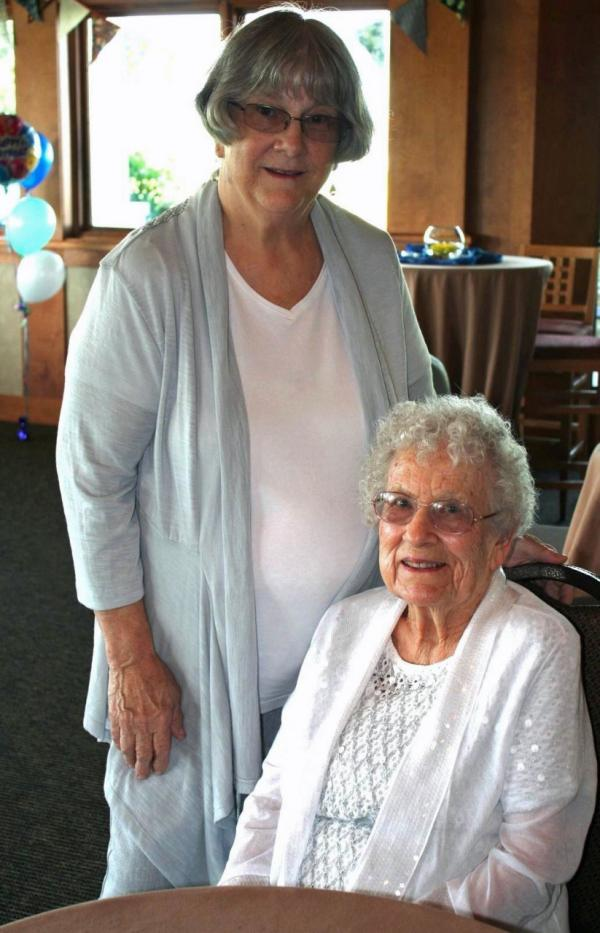 Betty Esser (right) is pictured with her daughter Kay Evans. (Diane Marlin)