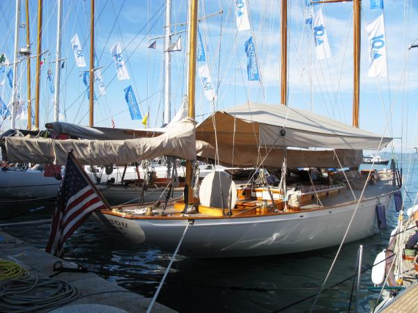 Manitou, once owned by President John F. Kennedy, raced in this year's vintage regatta.