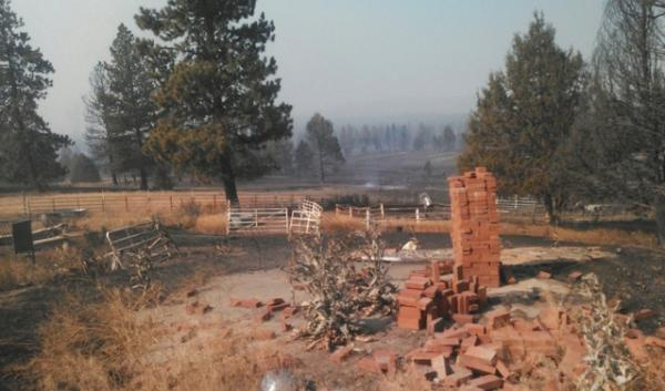 Many residents living outside Sprague River, Oregon lost their homes to a wildfire.