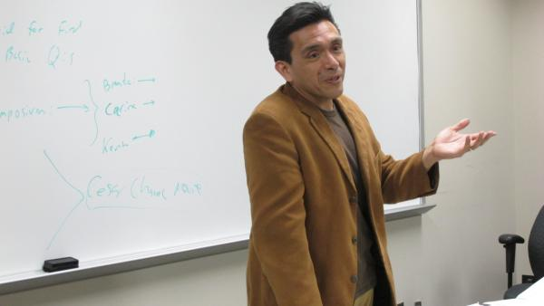 Tony Diaz is a professor at Lone Star College and also an activist with the group Librotraficante. He helped lead a campaign to get the Texas Board of Education to endorse Mexican-American and other ethnic studies courses. (Laura Isensee/Houston Public Media)