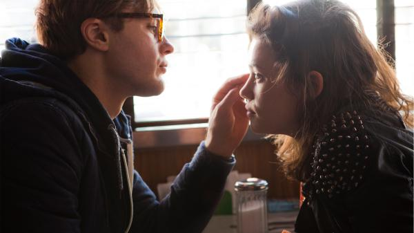 "In <em>I Origins</em>, Michael Pitt (left) plays a molecular biologist who becomes emotionally and philosophically entranced by free-spirited ""Sofi"" (Astrid Bergès-Frisbey) and her speckled eyes."