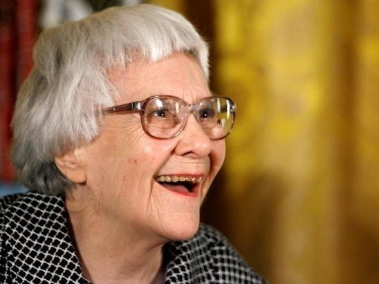Harper Lee, pictured in 2007 before receiving the Presidential Medal of Freedom.